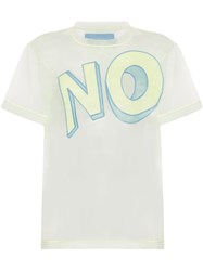 Viktor And Rolf Embroidered Logo T Shirt Yellow