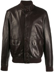 Salvatore Santoro Boxy Leather Jacket Brown
