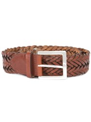 Rag And Bone Interlaced Leather Belt Brown