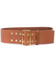 Frame Wide Belt Brown
