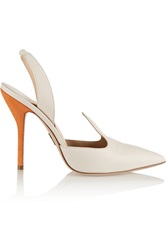 Paul Andrew Pallida Color Block Leather Slingback Pumps