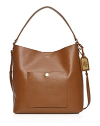 Lauren Ralph Lauren Newbury Pocket Hobo Lauren Tan