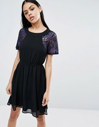 Pussycat London Skater Dress Navy