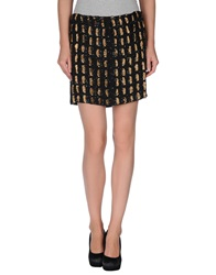 Antik Batik Mini Skirts Black