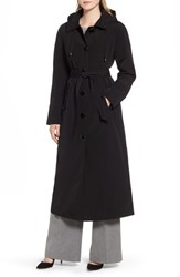 London Fog Long Trench Coat With Detachable Hood And Liner
