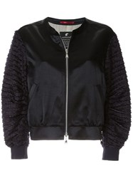 Loveless Embroidered Bomber Jacket Black