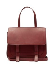 Mansur Gavriel Leather Satchel Shoulder Bag Burgundy