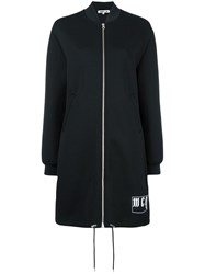 Mcq By Alexander Mcqueen Long Jersey Bomber Jacket Black