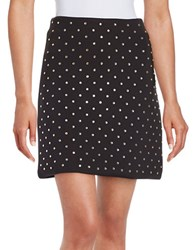 French Connection Diamond Drop Jersey Skirt Black Diamond