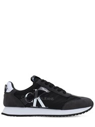 Calvin Klein Jeans 20Mm Josepha Nylon And Faux Suede Sneakers Black