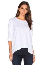 Wilt Slouchy Shifted Slant Long Sleeve Top White