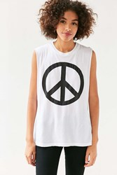 Truly Madly Deeply Peace Muscle Tee White