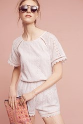 Anthropologie Eyelet Cutout Romper White