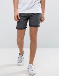 Solid Chino Shorts In Stripe Black