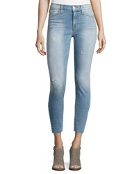 Hudson Nico Skinny Fit Distressed Jeans Light Blue