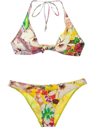 Etro Floral Print Bikini Yellow And Orange