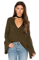 Free People Lovely Lines Pullover Green