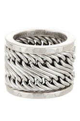 Lois Hill Woven Stacking 3 Ring Set Size 5.5 Metallic
