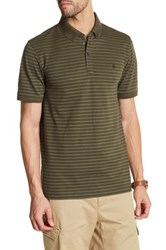 Victorinox Short Sleeve Stripe Tailored Fit Polo Green