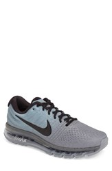 Nike Men's Air Max 2017 Running Shoe Tumbled Grey Black Stealth