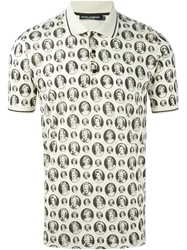 Dolce And Gabbana 'Marilyn Monroe Bubble' Print Polo Shirt Nude And Neutrals