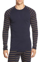 Men's Smartwool 'Nts Mid 250' Long Sleeve Crewneck T Shirt Deep Navy Sunglow Heather