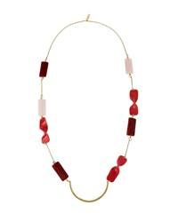 Lafayette 148 New York Twisted Bead Statement Necklace Cherrywood Multi