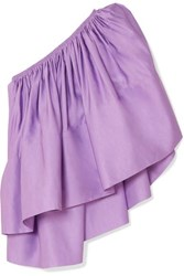 Solace London Ora One Shoulder Woven Top Lilac