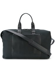 Troubadour Fabric And Leather Weekender Blue