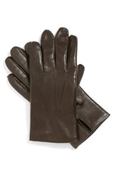 Men's John W. Nordstrom Leather Tech Gloves Brown