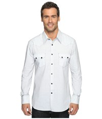 Rock And Roll Cowboy Long Sleeve Snap B2s9061 White Men's Long Sleeve Button Up