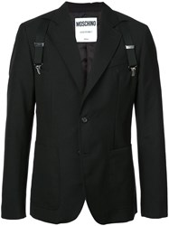 Moschino Suspender Blazer Black