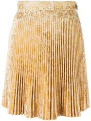 Antonio Berardi Pleated Mini Skirt Yellow Orange