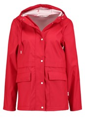 Only Onlnew Train Waterproof Jacket Haute Red White
