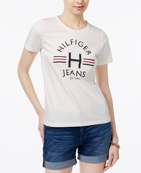 Tommy Hilfiger Logo T Shirt Only At Macy's Ivory