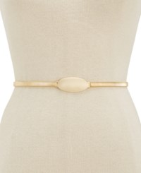 Inc International Concepts Oval Chain Stretch Belt Created For Macy's Gold