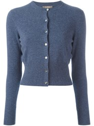N.Peal Cropped Cardigan Blue