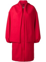 Msgm Panelled Coat Red
