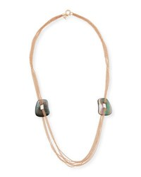 Mattioli Puzzle Six Strand Mother Of Pearl Necklace In 18K Rose Gold