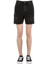 Ksubi Dagger Dan Cotton Denim Shorts Black