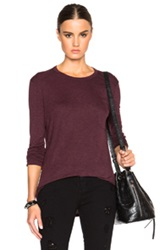 T By Alexander Wang Classic Long Sleeve Tee With Chest Pocket In Purple