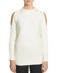 1.State Solid Mockneck Sweater White