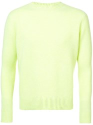 The Elder Statesman Simple Crew Neck Sweater Yellow And Orange