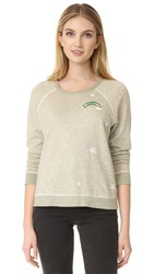 Sundry Patches Sweatshirt Heather Army