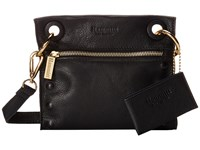 Hammitt Tony Embossed Black Gold Cross Body Handbags