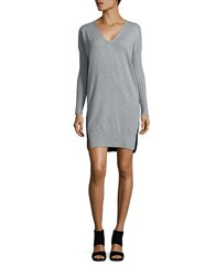 French Connection Aries V Neck Sweater Dress Grey