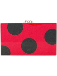 Charlotte Olympia Dotty Pandora Clutch Red