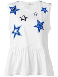 P.A.R.O.S.H. Gostar Embroidered T Shirt White