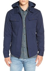 Brixton Men's 'Canton' Jacket With Detachable Hood Navy