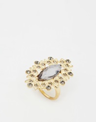 Little Mistress Statement Cocktail Ring Gold